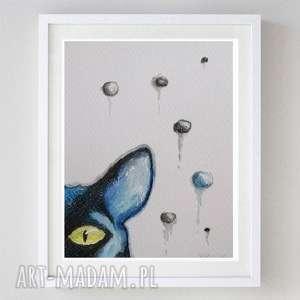 kot-abstrakcja,akwarela formatu 12,5/18 cm, kot, akwarela