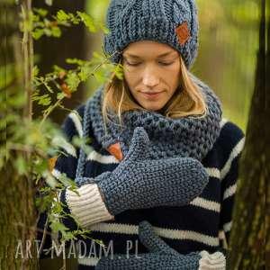 rękawiczki stalowy rycerz, rękawiczki, szare, stylowe, eleganckie, na zime