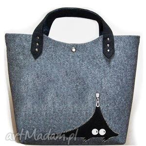 handmade filcowa torba a kuku
