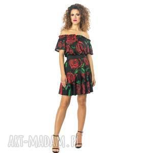 Sukienka w kwiaty, luźna, elastyczna