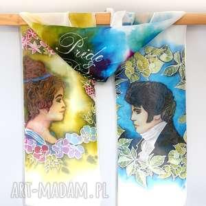 chustki i apaszki jedwabny szal ręcznie malowany duma uprzedzenie jane austen