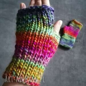 ręcznie zrobione rękawiczki mitenki