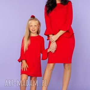 ee740649a73604 sukienki elegancka komplet dla mamy i córki, sukienka. ręczne wykonanie  sukienki