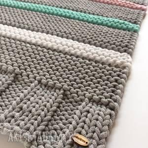 Zestaw dywan candy 140x70 cm x 2 szt wraz z pledem czesanki