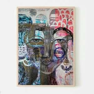 plakat a2 - morena, plakat, wydruk, twarz, postać, kobieta, portret