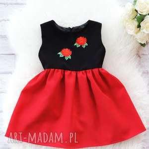Sukienka dziecięca folk z kwiatami 98/104, sukienka, folkowa, dziecięca, góralska