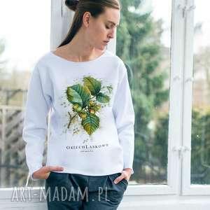 handmade bluzy orzech laskowy bluza oversize