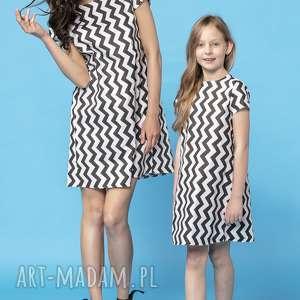 tessita komplet letnich sukienek z kontrafałdą na plecach, model 32a, czarny