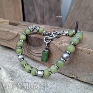 ręcznie zrobione jadeit nefrytowy - bransoletka