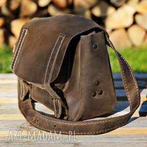 teczka skórzana ręcznie robiona mała navahoclothing, torebka skórzana, torba na ramię