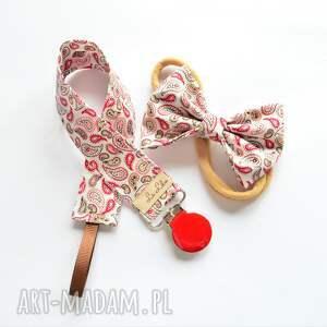 ręcznie zrobione dla dziecka zawieszka do smoczka opaska włosów