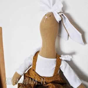 handmade maskotki pani królik z imieniem