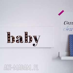 Prezent ŚWIECĄCY obraz BABY, prezent dla dziecka, chłopca, dziewczynki