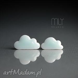 Cumulusy, chmurka, sztyfty, wkrętki, porcelana, ceramika, błyszczące