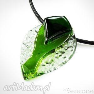 betello - wisior szklany wykonany od podstaw ręcznie, zielony, wisiorek