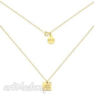 złoty naszyjnik one choice - złote naszyjniki, pozłacany