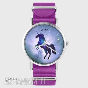 zegarki zegarek - jednorożec, unicorn amarant, nato, zegarek, bransoletka, nato