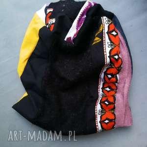 ręcznie zrobione czapki czapka damska szyta patchworkowo handmade
