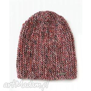czapka #20, czapka, beanie, dziergana, melanż, alpaka, druty, świąteczny prezent
