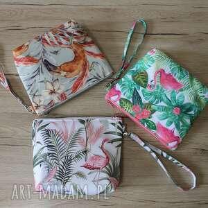 kosmetyczki zestaw kosmetyczek - flamingi, zestaw, kopertówka, pastele