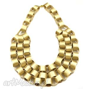 unikalny prezent, naszyjniki golden chains, skóra, naszyjnik, kolia, złoty, duży