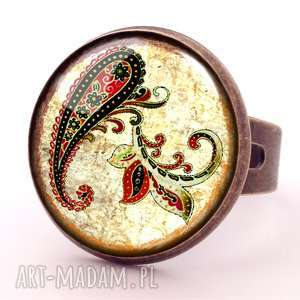 handmade pierścionki orientalna podróż - pierścionek regulowany