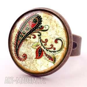 orientalna podróż - pierścionek regulowany, pierścionek, nerkowce