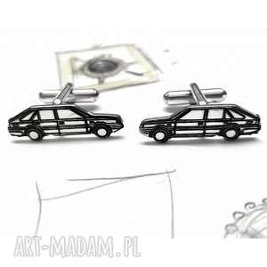 Srebrne spinki do mankietów samochód Polonez, srebro, spinki, spinkidomankietów
