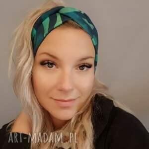 luci and love opaska w zieleniach, materiałowa, zebra, turban