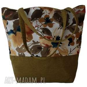 38-0009 Wielobarwna torebka na eko zakupy shopper bag SISKIN, torebki-materiałowe