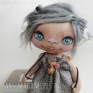ręczne wykonanie dekoracje pociecha - lalka kolekcjonerska figurka tekstylna ręcznie