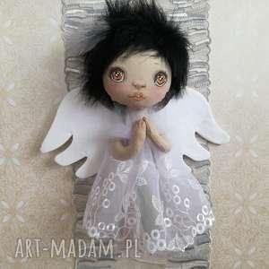 Prezent Dekoracja tekstylna Aniołek Liza, anioł, unikat, bawełna, prezent, urodziny