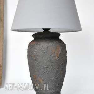 lampa stołowa archeo - black, stołowa, diy, vintage, loftowa, naturalna
