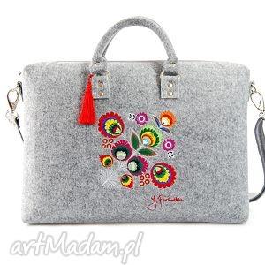 handmade torba filcowa kwiat łowicki 202