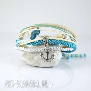 Prezent Bransoletka marynarska - Kotwica rzemienie, sznurki, bransoletka