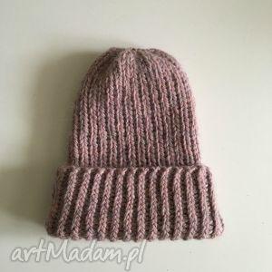 ręcznie wykonane czapki wełniana czapka / chunky beanie wełna alpaka