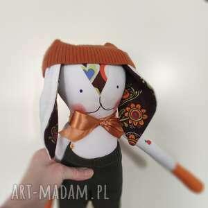 zajączek rudy rudolf, przytulak, maskotka, zajączek, dziecko, zabawka, lalka
