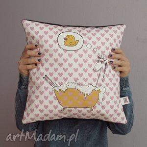 giraffes fantasy poduszka dekoracyjna, jaisek, serduszka, żyrafa, kaczuszka