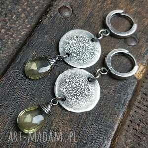 kolczyki ze srebra i cytrynu