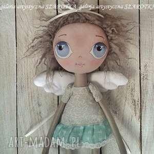 handmade dekoracje aniołek lalka - dekoracja tekstylna (ooak)