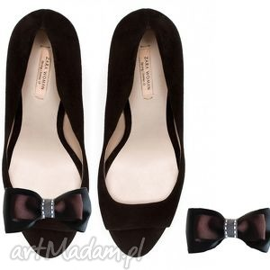 ozdoby do butów brown sugar - klipsy butów, kokardy, ozdoby, buty