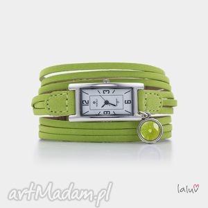 zegarek na skórzanej bransolecie lime, owoc, limonka, grafika, prezent, cytrus, czas
