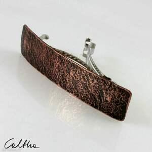 ręcznie wykonane ozdoby do włosów kamień - miedziana klamra 200613