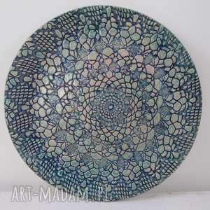 ceramika ana koronkowa patera ceramiczna, talerz, dekoracyjny, ceramiczny