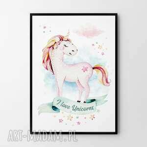 handmade pokoik dziecka plakat obraz jednorożec 50x70 cm