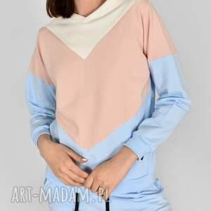 bluzy bluza wirginia niebieska, bluzy, spodnie, dres, bluzki, koszulki, szalik