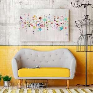 obraz na płótnie - kolorowy kropki abstrakcja - 120x80 cm 69901 - kwiaty