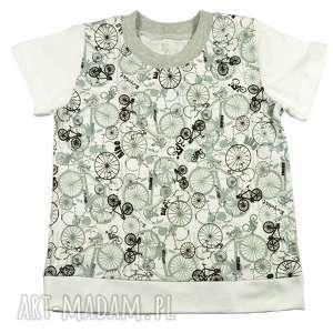 ROWERY biała Koszulka, t-shirt, bluzka, dla dziecka 68-122,
