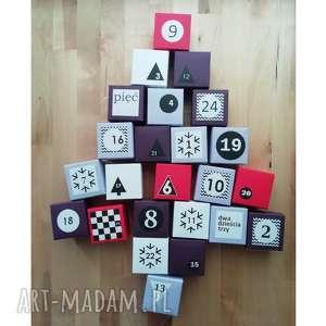hand made pomysł na upominek kalendarz adwentowy z magnesem | dla dzieci 24 papierowe