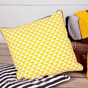 hand-made poduszki poszewka na poduszkę trójkąty scandi - 6 kolorów